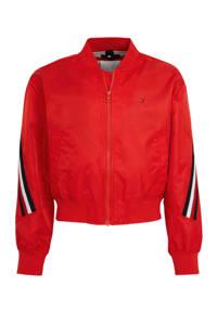 Tommy Hilfiger bomberjack met contrastbies rood, Rood