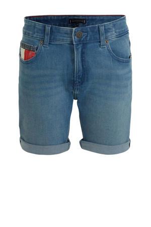 jeans bermuda met logo ocean light blue