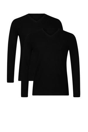 T-shirt Vick met bamboe (set van 2) zwart