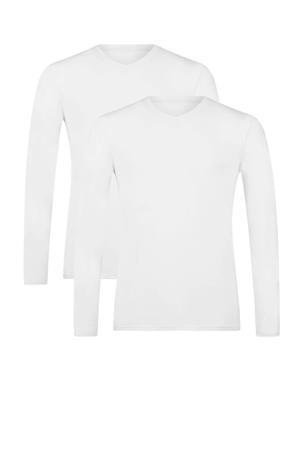 T-shirt Vick met bamboe (set van 2) wit