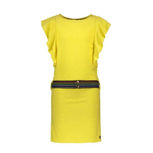 Like Flo jurk met stippen en vleermuismouwen geel
