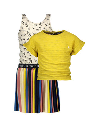 jurk met losse top geel/multicolor