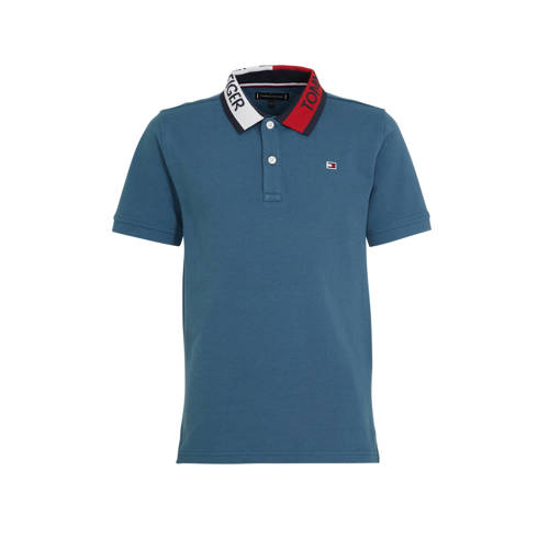 Tommy Hilfiger polo met logo blauw/rood/wit