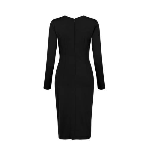 Steps jersey jurk met plooien zwart