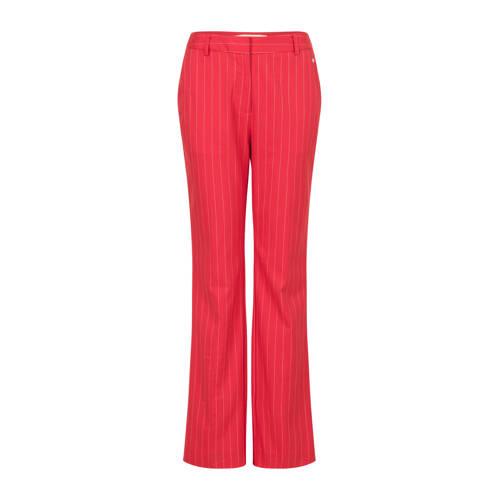 Steps high waist straight fit pantalon met krijtst