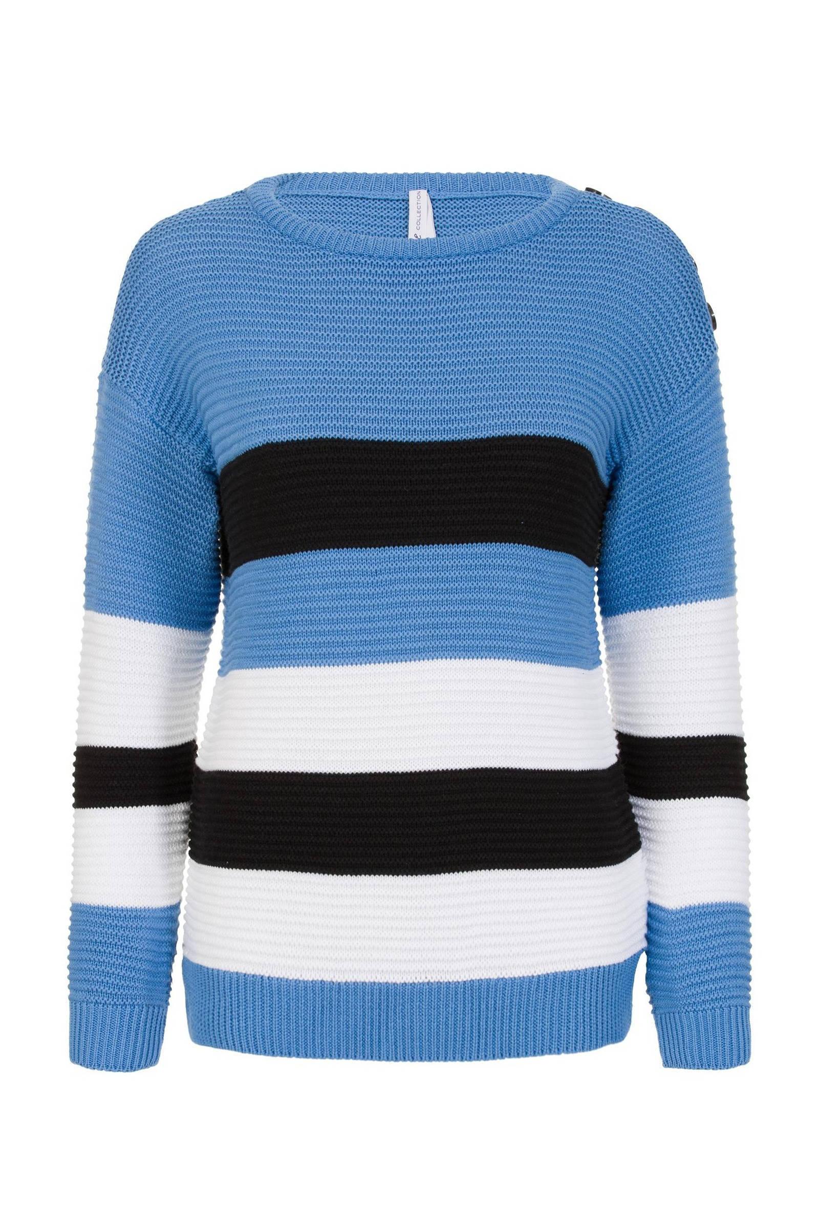 Gebreide trui Blauwwit KINDEREN | H&M NL