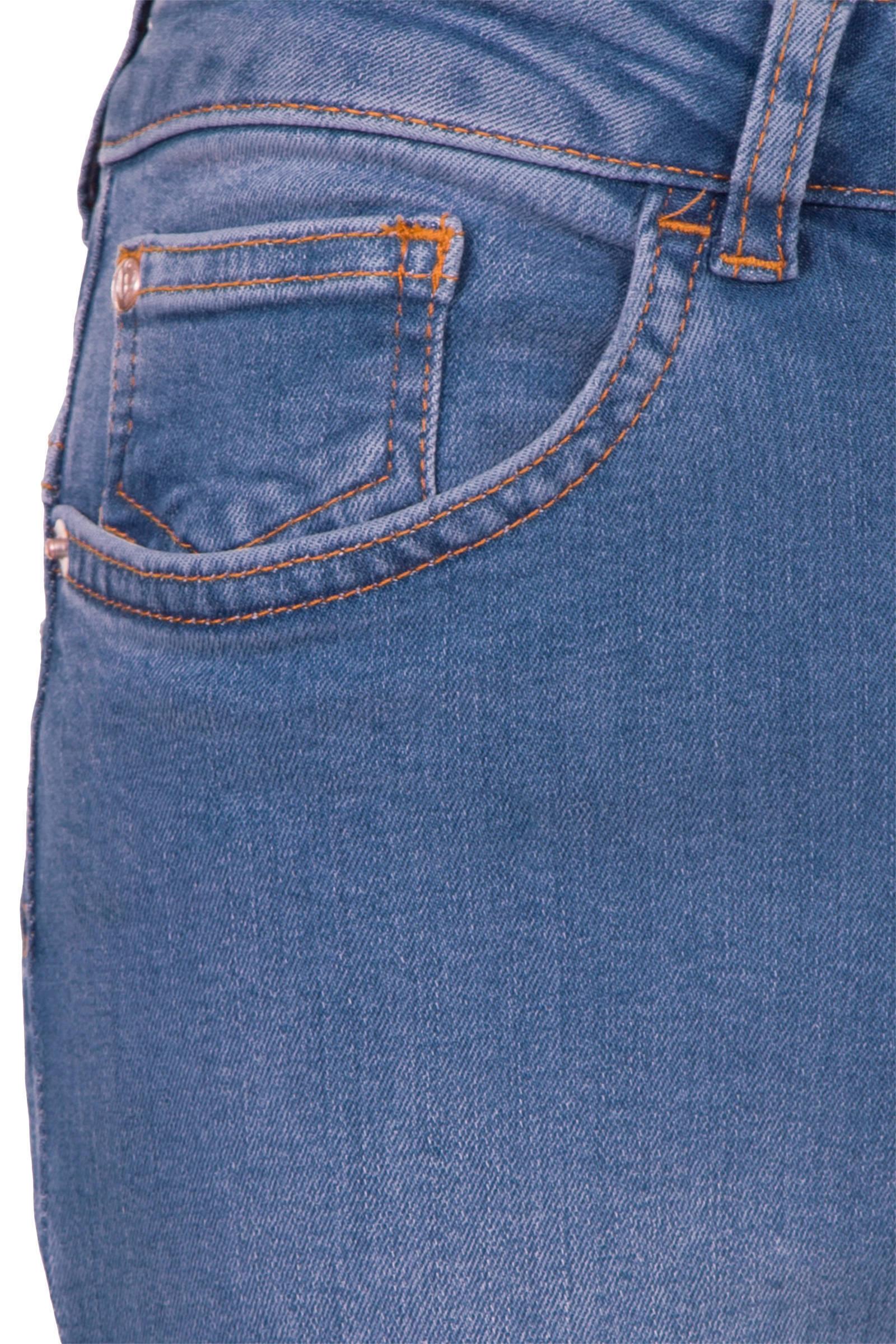 Miss Etam Regulier flared jeans Felize 32 inch blauw | wehkamp