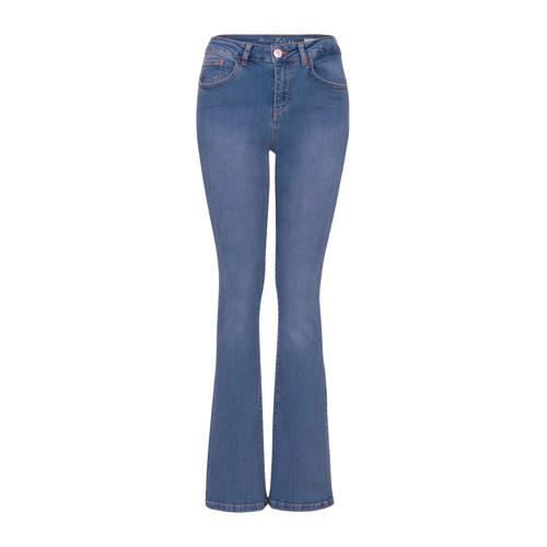 Miss Etam Regulier flared jeans Felize 32 inch bla