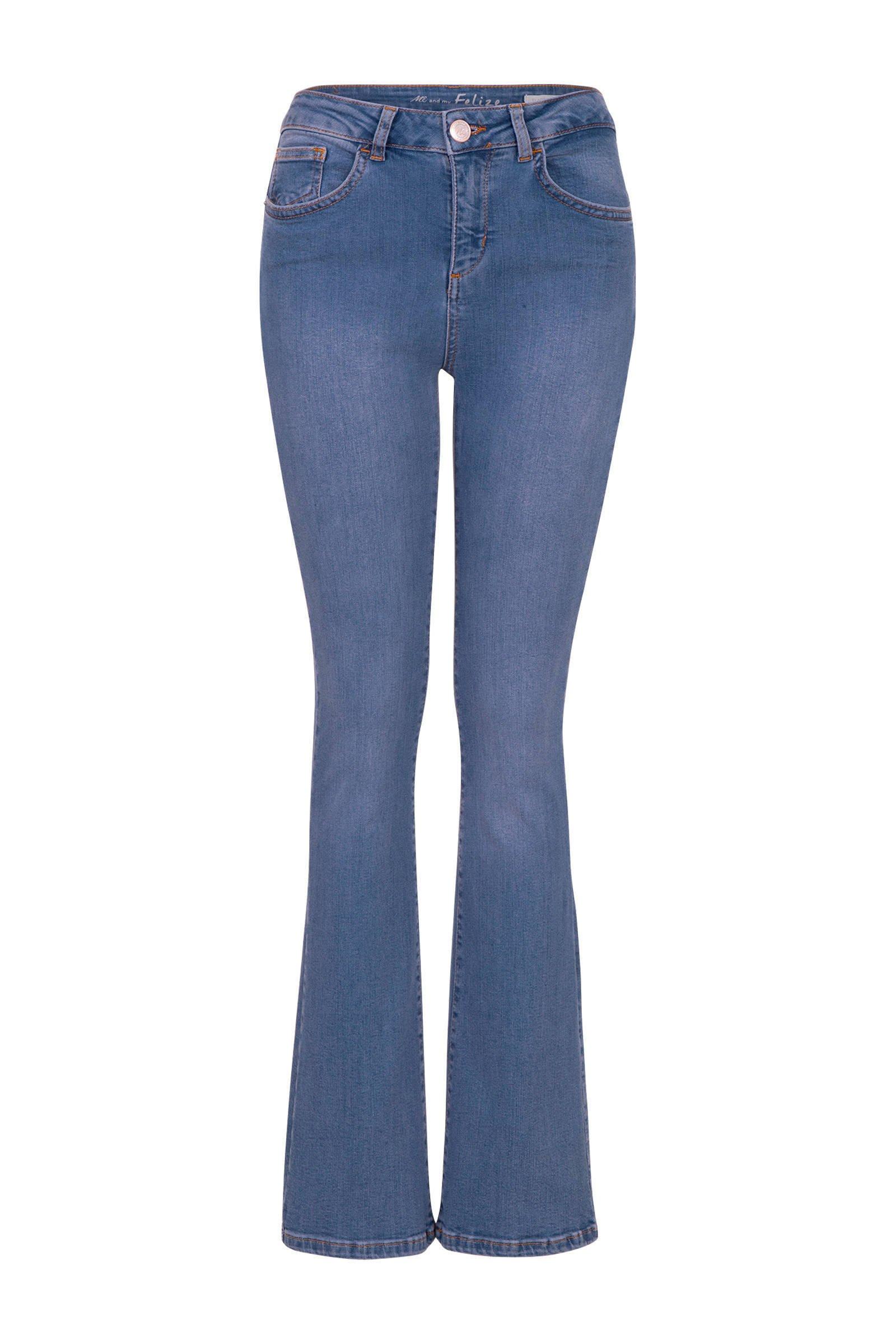 flared jeans Felize 32 inch blauw