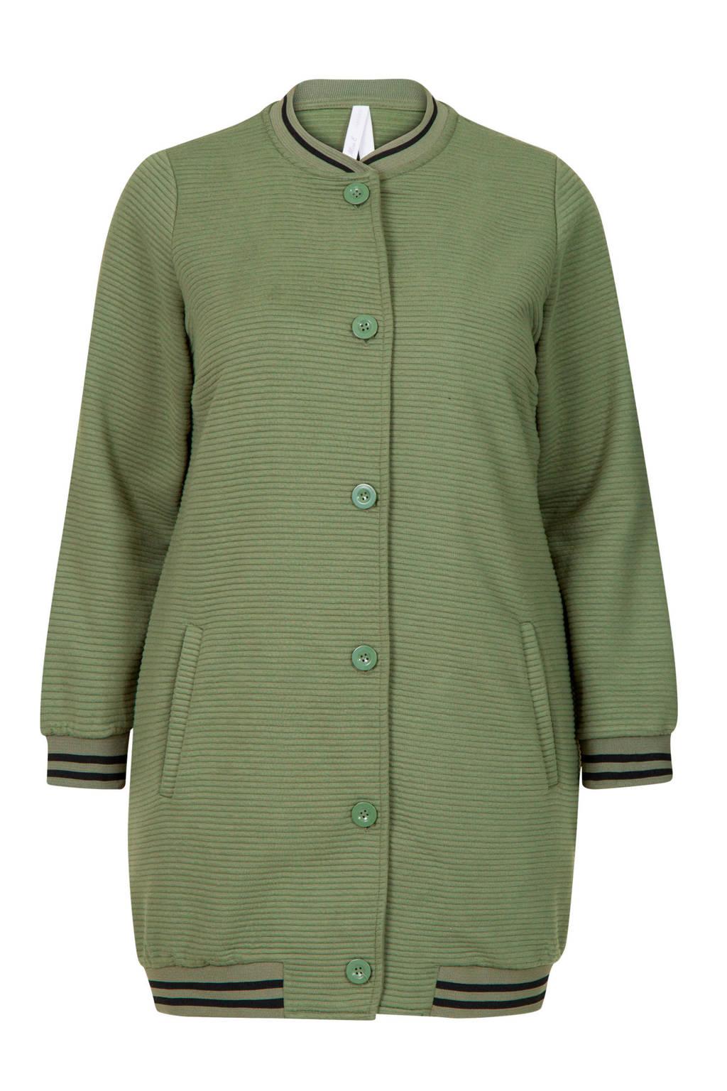 Miss Etam Plus vest groen, Groen