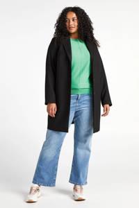 Miss Etam Plus cropped flared jeans Felize lichtblauw, Blauw