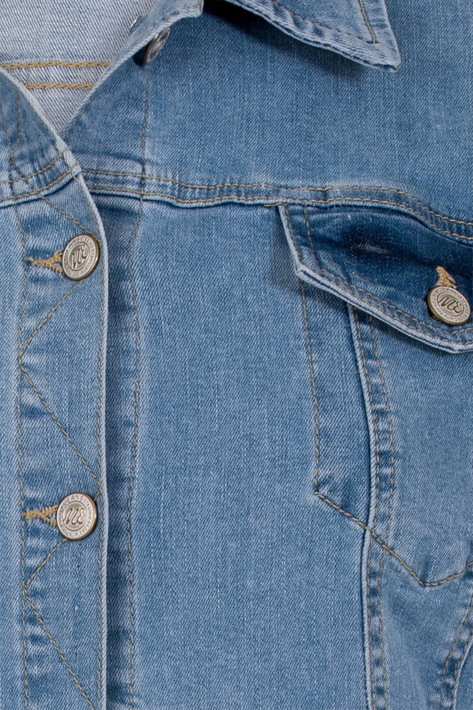 Miss Etam Lang spijkerjasje blauw | wehkamp