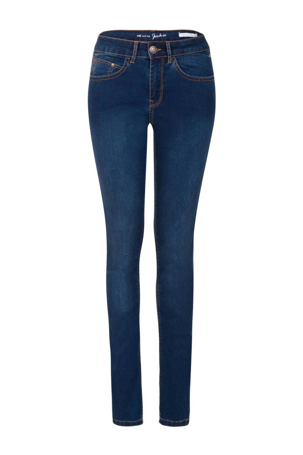 Miss Etam Regulier slim fit jeans Jackie 32 inch donkerblauw, Blauw