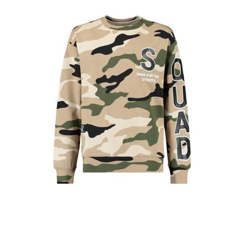 CoolCat Junior sweater Santino met camouflageprint