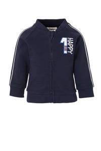 C&A Baby Club vest met contrastbies donkerblauw/wit/rood, Donkerblauw/wit/rood
