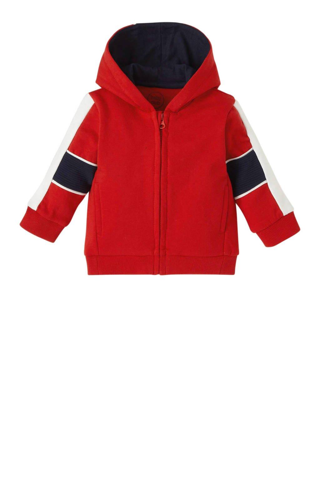 C&A Baby Club vest van biologisch katoen rood/wit/donkerblauw, Rood/wit/donkerblauw