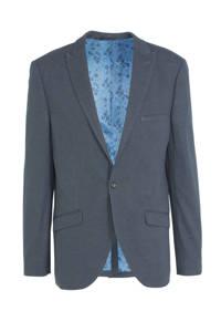 C&A Angelo Litrico slim fit colbert met all over print dark blue, Dark Blue