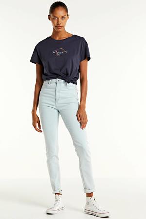 T-shirt Nelaa Turtle van biologisch katoen donkerblauw
