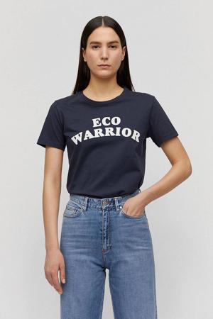 T-shirt Maraa Eco Warrior van biologisch katoen donkerblauw