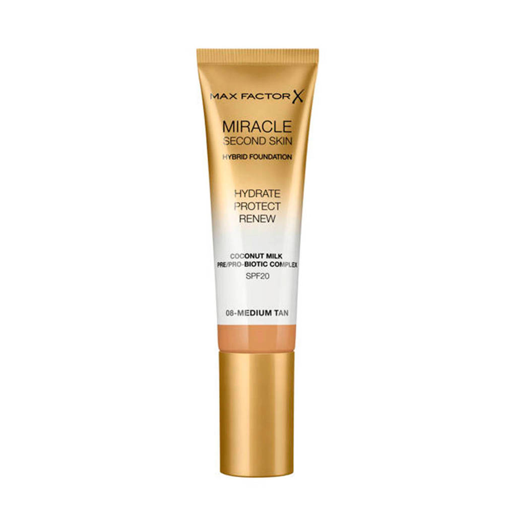 Max Factor Miracle Second Skin Foundation - 08 Medium Tan