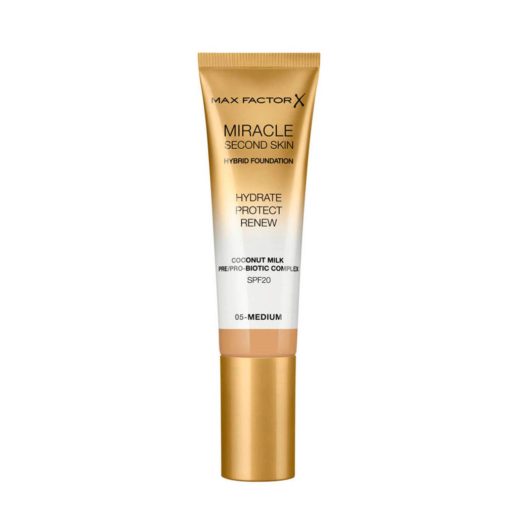 Max Factor Miracle Second Skin Foundation - 05 Medium