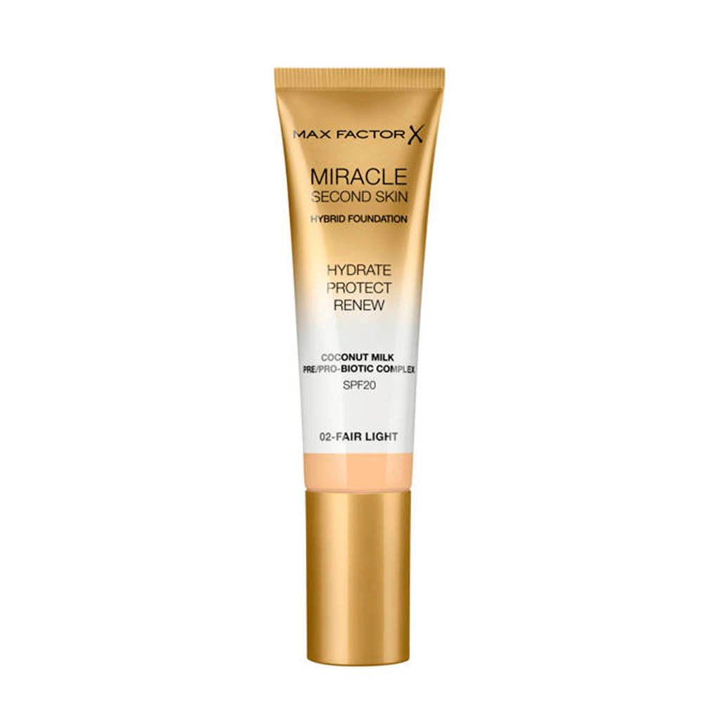 Max Factor Miracle Second Skin Foundation - 02 Fair Light