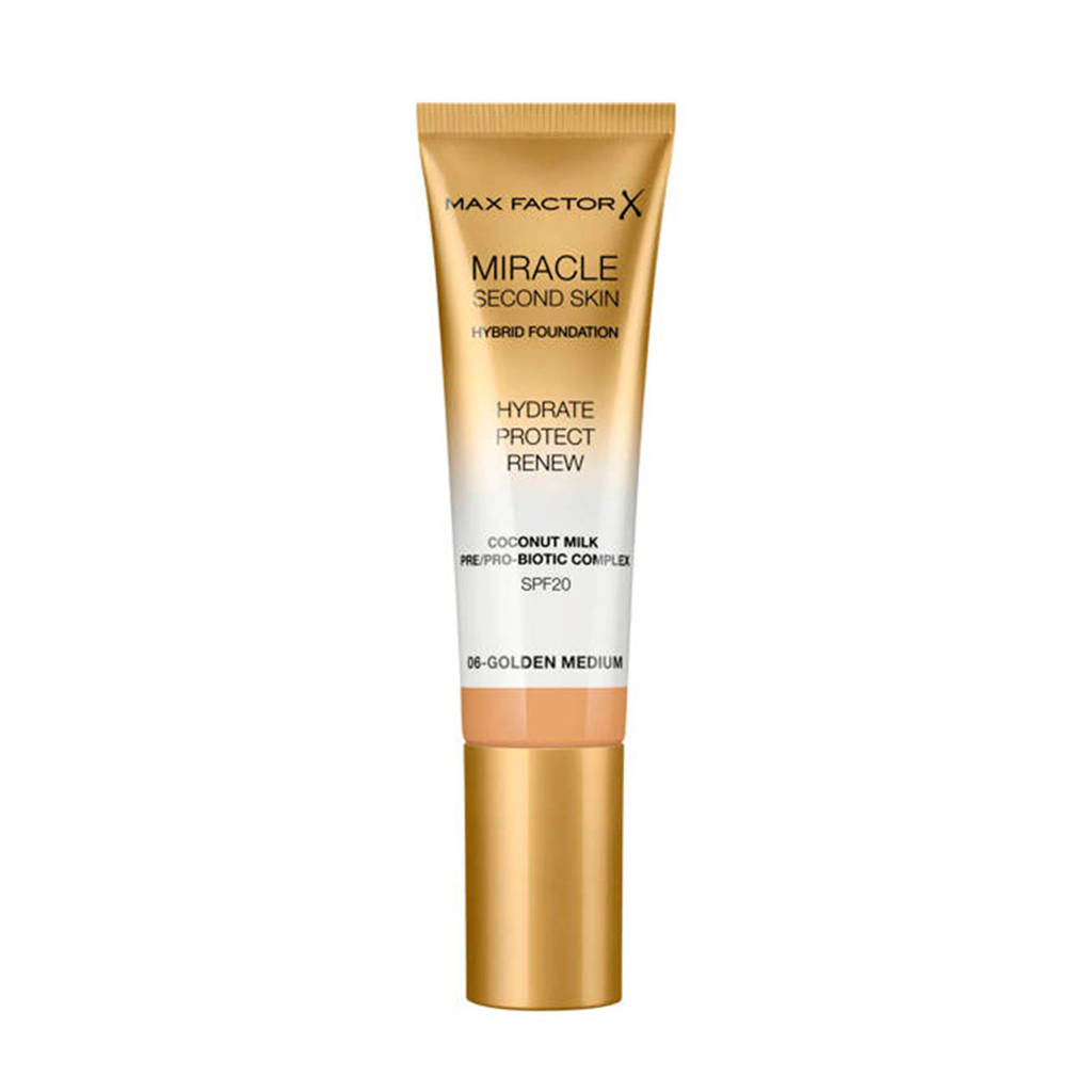 Max Factor Miracle Second Skin Foundation - 06Golden Medium