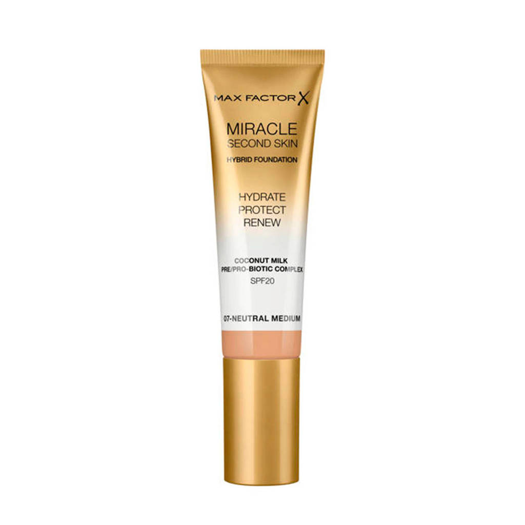 Max Factor Miracle Second Skin Foundation - 07 Neutral Medium