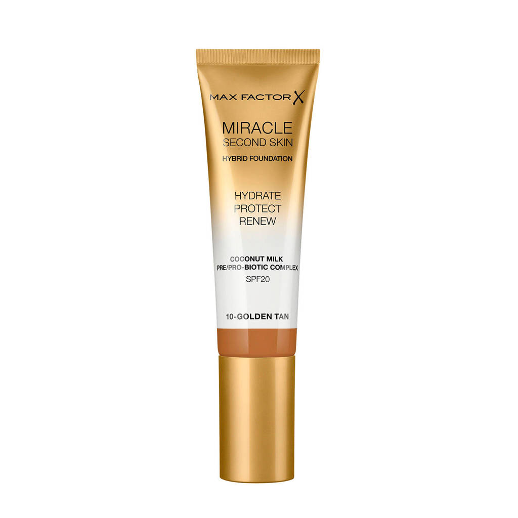 Max Factor Miracle Second Skin Foundation - 10 Golden Tan