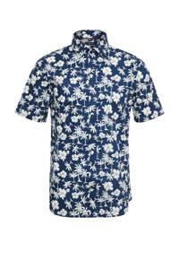 Matinique slim fit overhemd donkerblauw, Donkerblauw