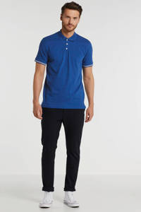 Matinique slim fit polo blauw, Blauw