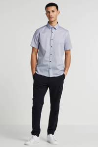Matinique geruit slim fit overhemd wit, Wit