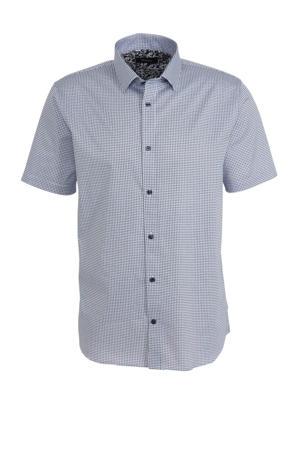 geruit slim fit overhemd wit
