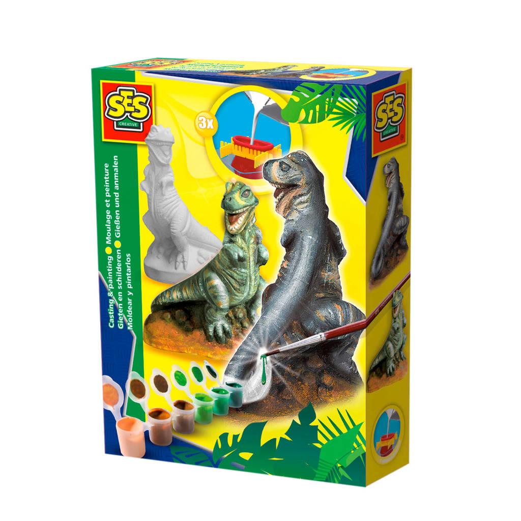 SES Gieten en schilderen - T-rex