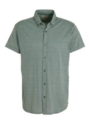 slim fit overhemd groen