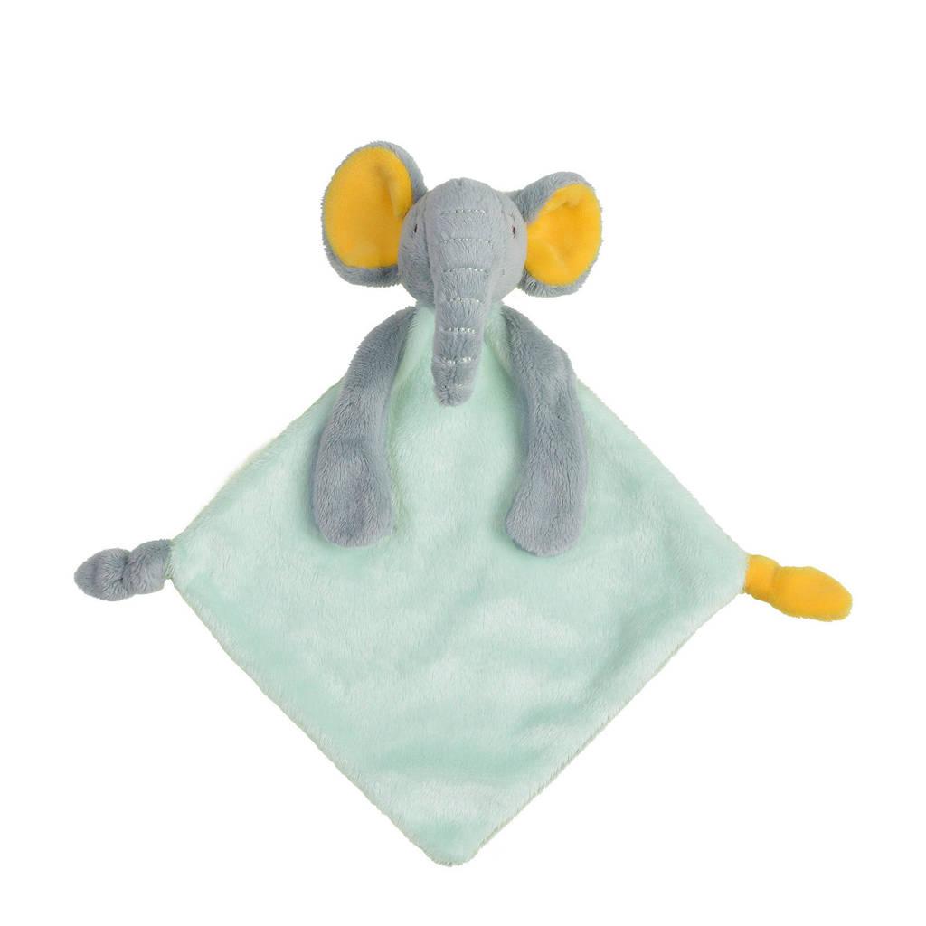 Happy Horse Elephant Evan Tuttle knuffeldoekje, Mintgroen