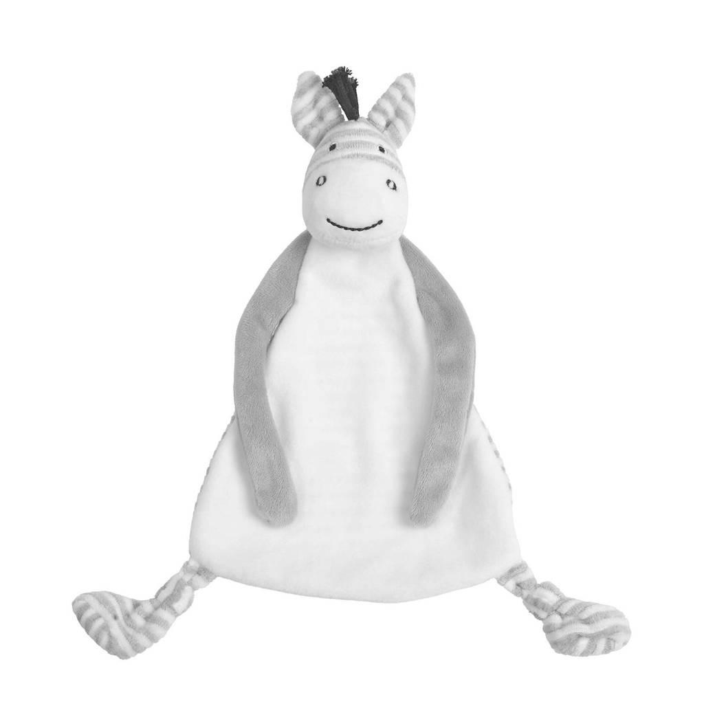 Happy Horse Zebra Zoro Tuttle knuffeldoekje, Grijs