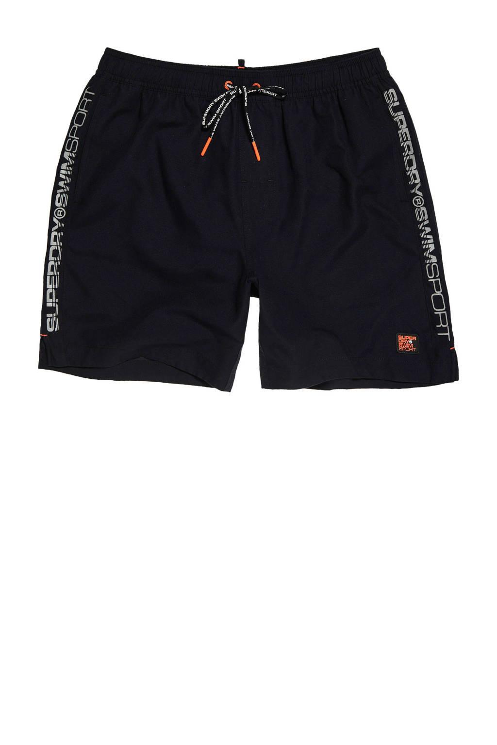 Superdry Sport zwemshort zwart, Zwart