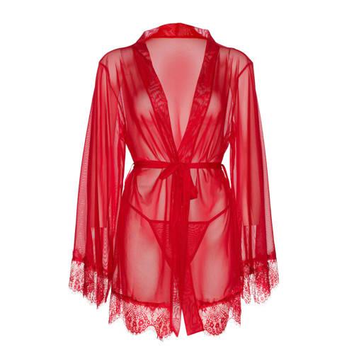 Leg Avenue kimono met string bordeaux