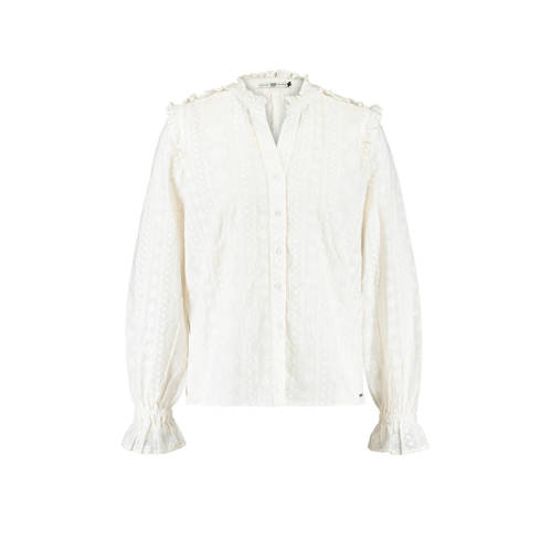America Today blouse en ruches wit