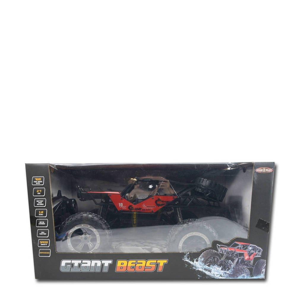 Gear2play RC Giant Beast Terreinwagen, Rood