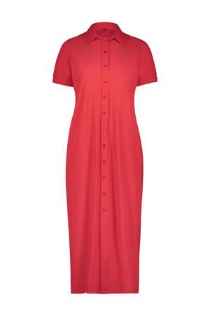 Plus Basics maxi blousejurk rood in travel kwaliteit
