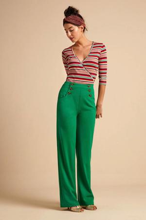 flared pantalon Sailor groen