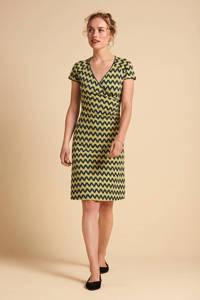 King Louie jurk Cross met grafische print groen/multi, Groen/multi