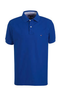 Tommy Hilfiger slim fit polo blauw, Blauw