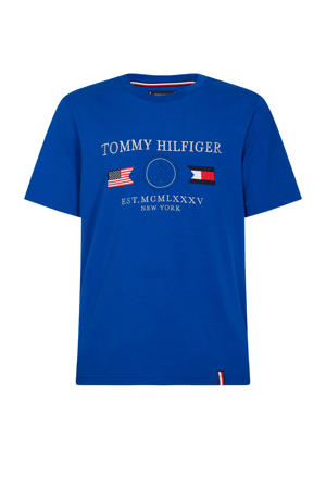 T-shirt van biologisch katoen blauw/wit/rood