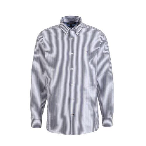 Tommy Hilfiger gestreept slim fit overhemd lichtbl