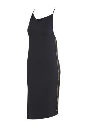 maxi jurk donkergrijs/blauw