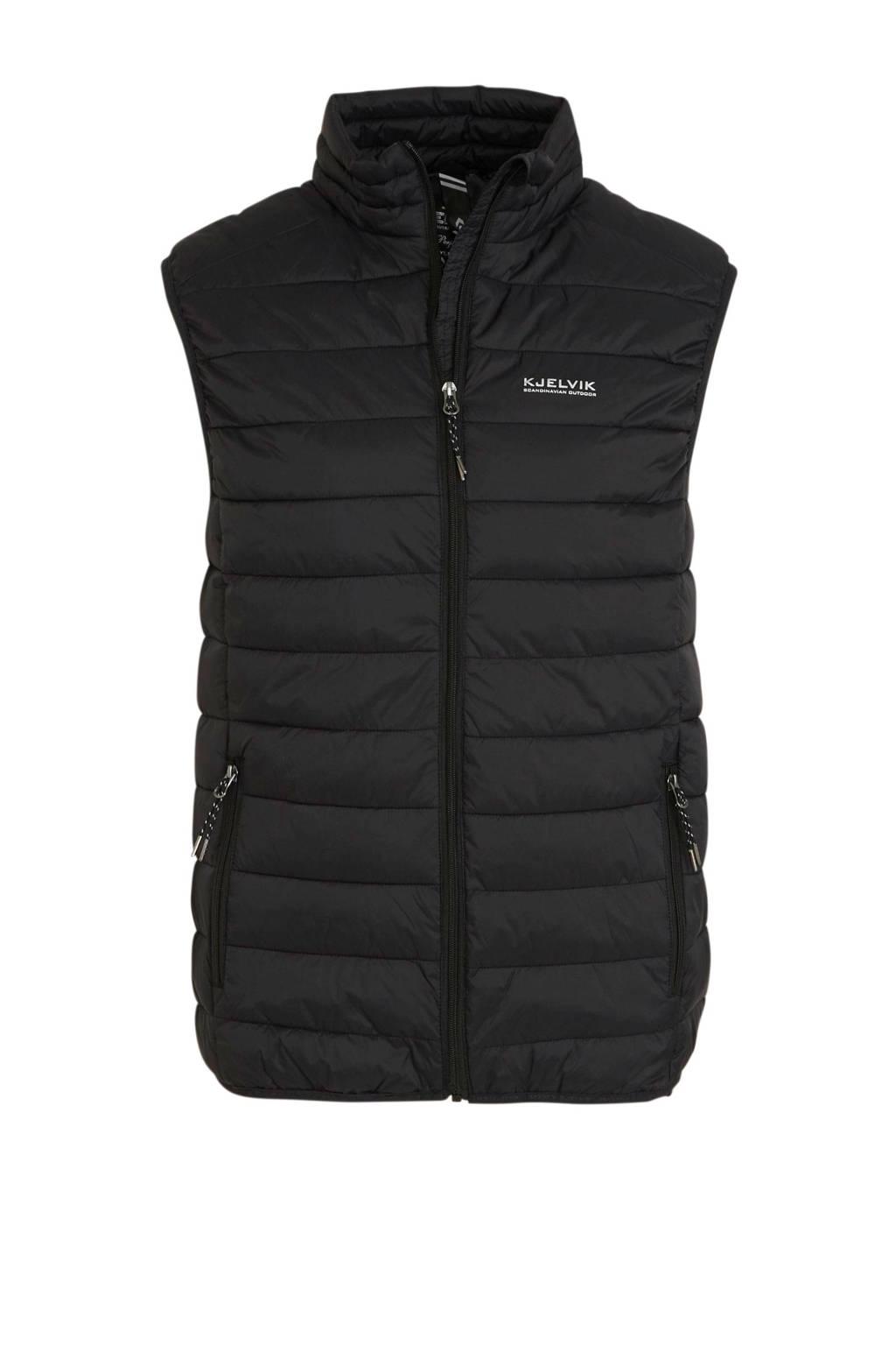 Kjelvik outdoor bodywarmer zwart, Zwart