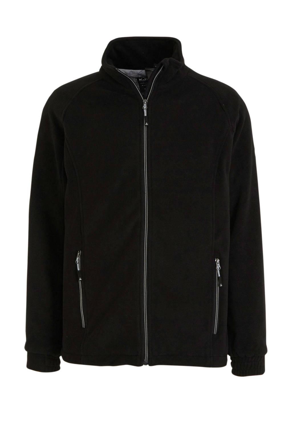 Kjelvik outdoor fleecevest zwart, Zwart